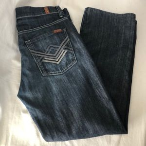 7/Mankind Button Fly Slouchy Straight Jeans 32X29